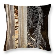 The Chicken Coop Caper Throw Pillow