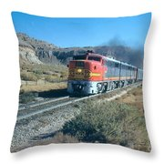 The Chief Train Throw Pillow