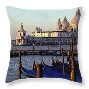 The Chiesa Di Santa Maria Della Salute Throw Pillow