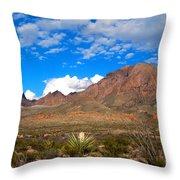 The Chisos Mountains Big Bend Texas Throw Pillow