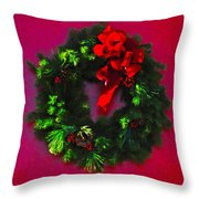 The Christmas Wreath Throw Pillow