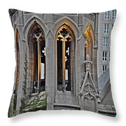 The Church Tower Throw Pillow