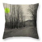 The Circle Green - Bare Walkin Trail Throw Pillow