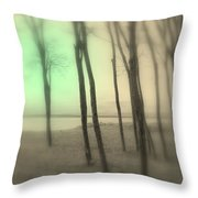 The Circle Green - Grove By The Sea Throw Pillow