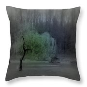 The Circle Green - Tree By The River Throw Pillow