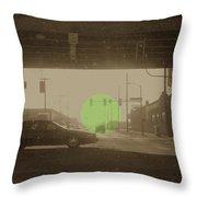 The Circle Green - Urban Perspective Throw Pillow