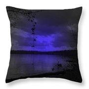 The Circle Violet Lake  Throw Pillow