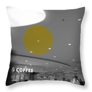The Circle Yellow - Traveling In Need Of A Cup Throw Pillow