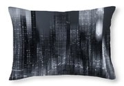 The City Comes Alive At Night Throw Pillow