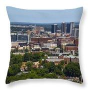 The City Of Birmingham Alabama Usa Vertical Throw Pillow