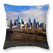 The City Of Brotherly Love Throw Pillow