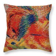 The City Rises Throw Pillow