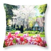 The Claude Monet Small House Throw Pillow