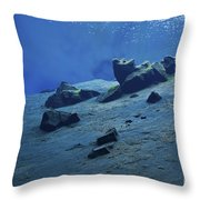 The Clear Water Of The Lagoon At Silfra Throw Pillow