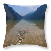 The Clear Waters Of King's Lake Throw Pillow