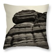 The Cliff Bw Throw Pillow