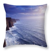 The Cliffs Of Moher, County Clare Throw Pillow