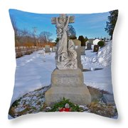 The Clinging Cross Throw Pillow