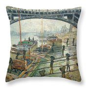 The Coal Workers Throw Pillow