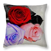 The Color Of My Love Throw Pillow