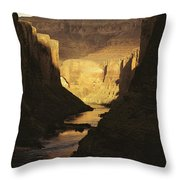 The Colorado River Flows Throw Pillow