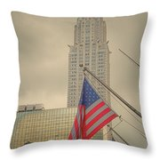 The Colors Flying In New York Throw Pillow
