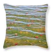 The Colors Of Lily Pads Throw Pillow