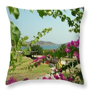 The Colors Of Paros Throw Pillow