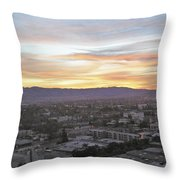 The Colors Of The Sky Over San Jose At Sunset Throw Pillow by Ashish Agarwal