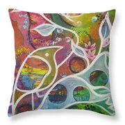 The Colour Of Spring Throw Pillow