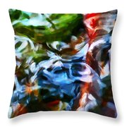 The Coloured Eddies Throw Pillow