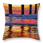 The Colours Of Dawn  Throw Pillow