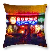 The Colours Of Singapore Nights Throw Pillow
