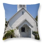 The Community Chapel Of Melbourne Beach Florida Throw Pillow