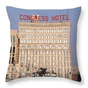 The Congress Hotel - 1 Throw Pillow