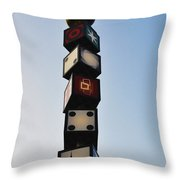 The Continental Diner Dice Throw Pillow
