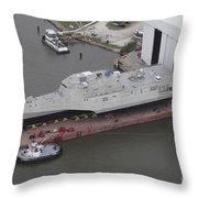 The Coronado Littoral Combat Ship Throw Pillow