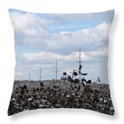 The Cotton Crops Of Limestone County Alabama Throw Pillow