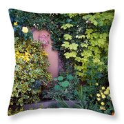 The Courtyard Garden, Fairfield Lodge Throw Pillow by The Irish Image Collection
