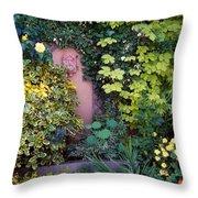 The Courtyard Garden, Fairfield Lodge Throw Pillow
