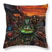 The Creation Of Chaos Throw Pillow