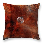 The Crescent Nebula With Soap-bubble Throw Pillow by Rolf Geissinger