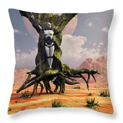 The Crucifixion Of A Messianic Martyr Throw Pillow by Mark Stevenson