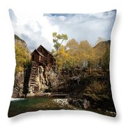 The Crystal Mill Throw Pillow