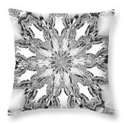The Crystal Snow Flake Throw Pillow