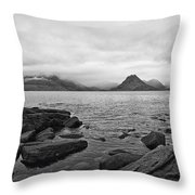 The Cuillin's In The Mist Throw Pillow