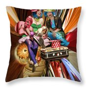 The Cupcake Carnival Girls Throw Pillow