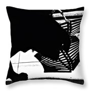 The Curious One Throw Pillow