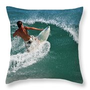 The Cut Back Throw Pillow