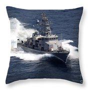The Cyclone-class Coastal Patrol Ship Throw Pillow